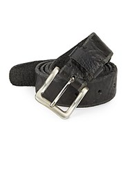 Will Leather Goods Skinny Skiver Leather Belt Black