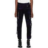 Faith Connexion Navy Corduroy Camo Cargo Pants