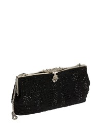 Zoe Adams Vintage Style Beaded Clutch Black