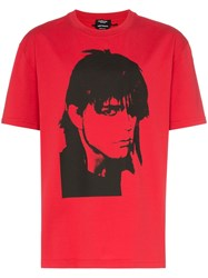 Calvin Klein 205W39nyc Face Print T Shirt Red