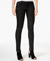 Rock Revival Camille Coated Black Wash Skinny Jeans