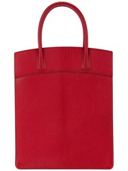 Hermes Vintage White Bass Up Tote Red