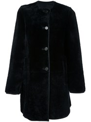 Marni Shearling Coat Blue