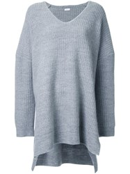 Rito V Neck Oversized Jumper Grey