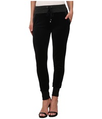 Splendid Velour Active Pants Black Women's Casual Pants