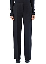 Pre Ss16 Agnona Wide Leg Pleat Pants Black