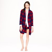 J.Crew Robe In Bright Cerise Plaid Flannel