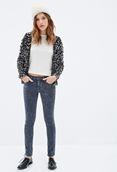 Forever 21 Mineral Wash Skinny Jeans Charcoal