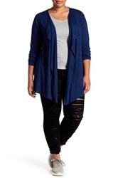 Vince Camuto Long Sleeve Cardigan Plus Size Blue