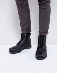 Kg By Kurt Geiger Rayn Lace Up Boots In Black Black