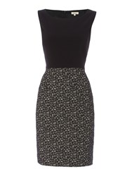 Linea Edie Contrast Dress Black