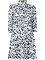 Peter Jensen Ghost Print Shirt Dress Black