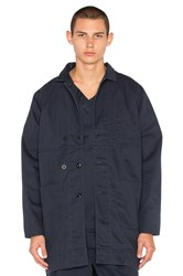 Dickies X Palmer Trading Company Long Shop Coat Blue