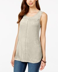 Styleandco. Style And Co. Faux Suede Tank Top Only At Macy's