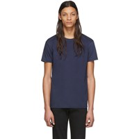 Naked And Famous Denim Navy Circular Knit T Shirt