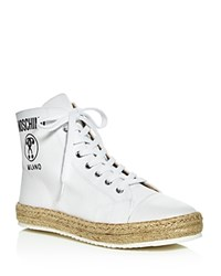 Moschino High Top Espadrille Sneakers White