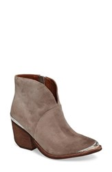 Jeffrey Campbell Women's Cahuenga Western Bootie Taupe Suede