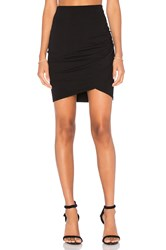 Michael Stars Cross Front Mini Skirt Black