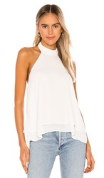 Krisa Double Layer Halter In White. Cream