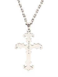 John Richmond Cross Pendant On Chain Necklace