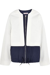 See By Chloe Shell Paneled Cotton Twill Jacket White