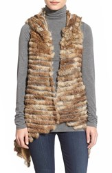 Women's Jocelyn Asymmetrical Rabbit Fur Vest
