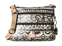 Sakroots Artist Circle Basic Crossbody Black White One World Cross Body Handbags Beige