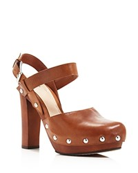 Vince Camuto Elric Platform Ankle Strap Pumps Totally Toffee