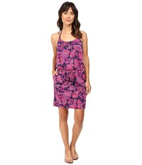 Tommy Bahama Jacobean Floral Scoop Neck Spa Dress Cover Up Wild Orchid Pink Women's Swimwear