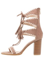 Glamorous High Heeled Sandals Taupe