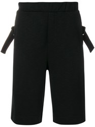 Mcq By Alexander Mcqueen Buckle Embellished Shorts Cotton Polyester Viscose Black