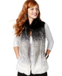 Inc International Concepts Ombre Faux Fur Vest Only At Macy's Grey White Ombre