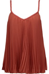 Bailey 44 Pleated Chiffon Tank Papaya