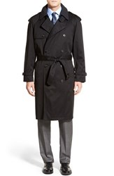 Men's Big And Tall Hart Schaffner Marx 'Barrington' Cotton Blend Trench Coat