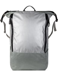 Nocturnal Workshop Silver Zip Top Backpack