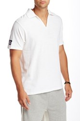Panda Diplomacy V Neck Polo Shirt White