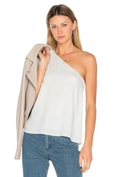 Tibi One Shoulder Ruffle Top White