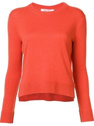 Organic By John Patrick Round Neck Cropped Pullover Yellow And Orange