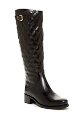 Catherine Malandrino Kylie Quilted Riding Boot Black
