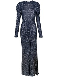 Jonathan Simkhai Sequin Open Back Gown Blue