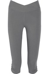 Yummie Tummie By Heather Thomson Candace Stretch Cotton Blend Cropped Pants Gray
