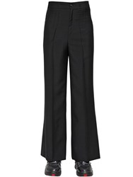 Maison Martin Margiela Loose Fit Wool And Mohair Pants Black