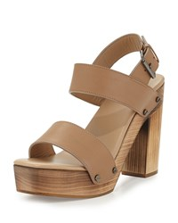 Vince Solange Leather Slingback Sand Brown Al Sand Women's