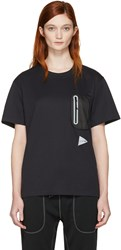 And Wander Black Seamless T Shirt
