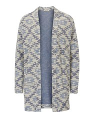 Betty Barclay Long Textured Unlined Jacket Blue