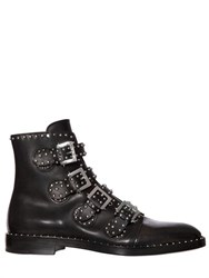 Givenchy Studded Leather Buckle Ankle Boots