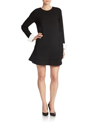 Essentiel Knit Shirtdress Black