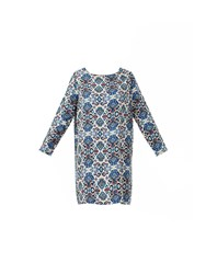 Maiocci Tunic Dress With Long Sleeves Multi Coloured