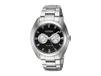 Citizen Bu4010 56E Eco Drive Silver Tone Watches Black