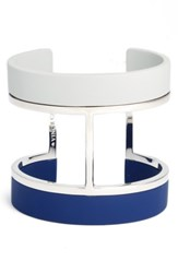 Vince Camuto Women's Colorblocked Wide Cuff Silver Grey Blue